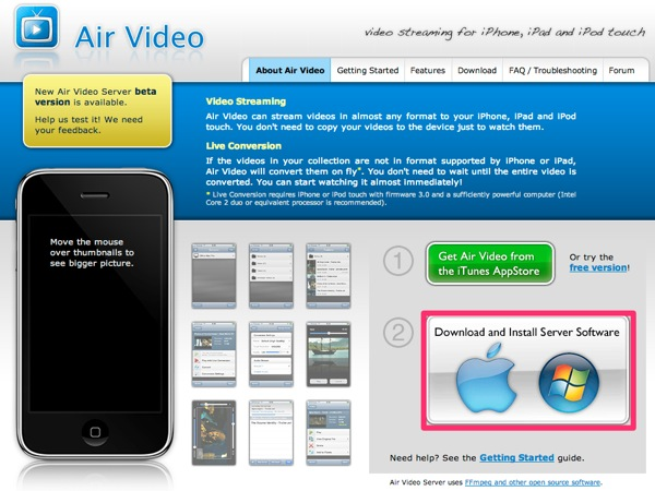 Air video setting 1