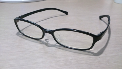 Jins pc clear lens black 1
