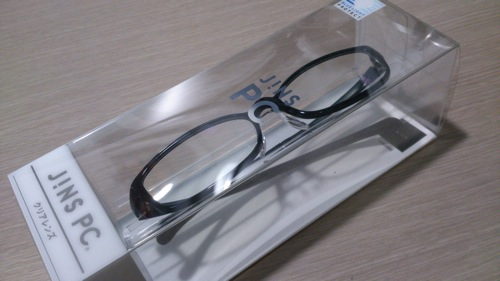 Jins pc clear lens black eyecatch