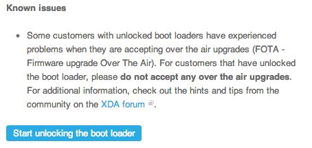 Xperia z bootloader unlock 1