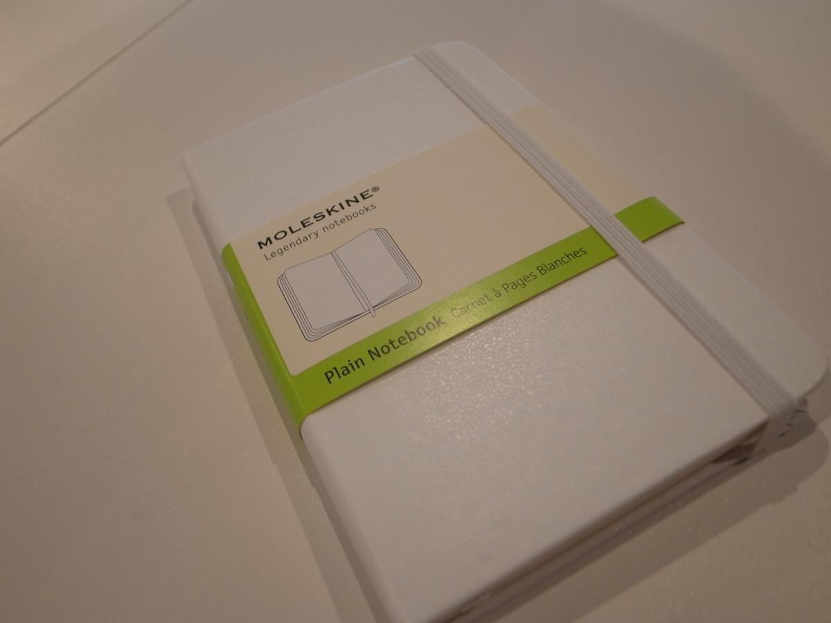 Moleskine white pocket plain notebook 2
