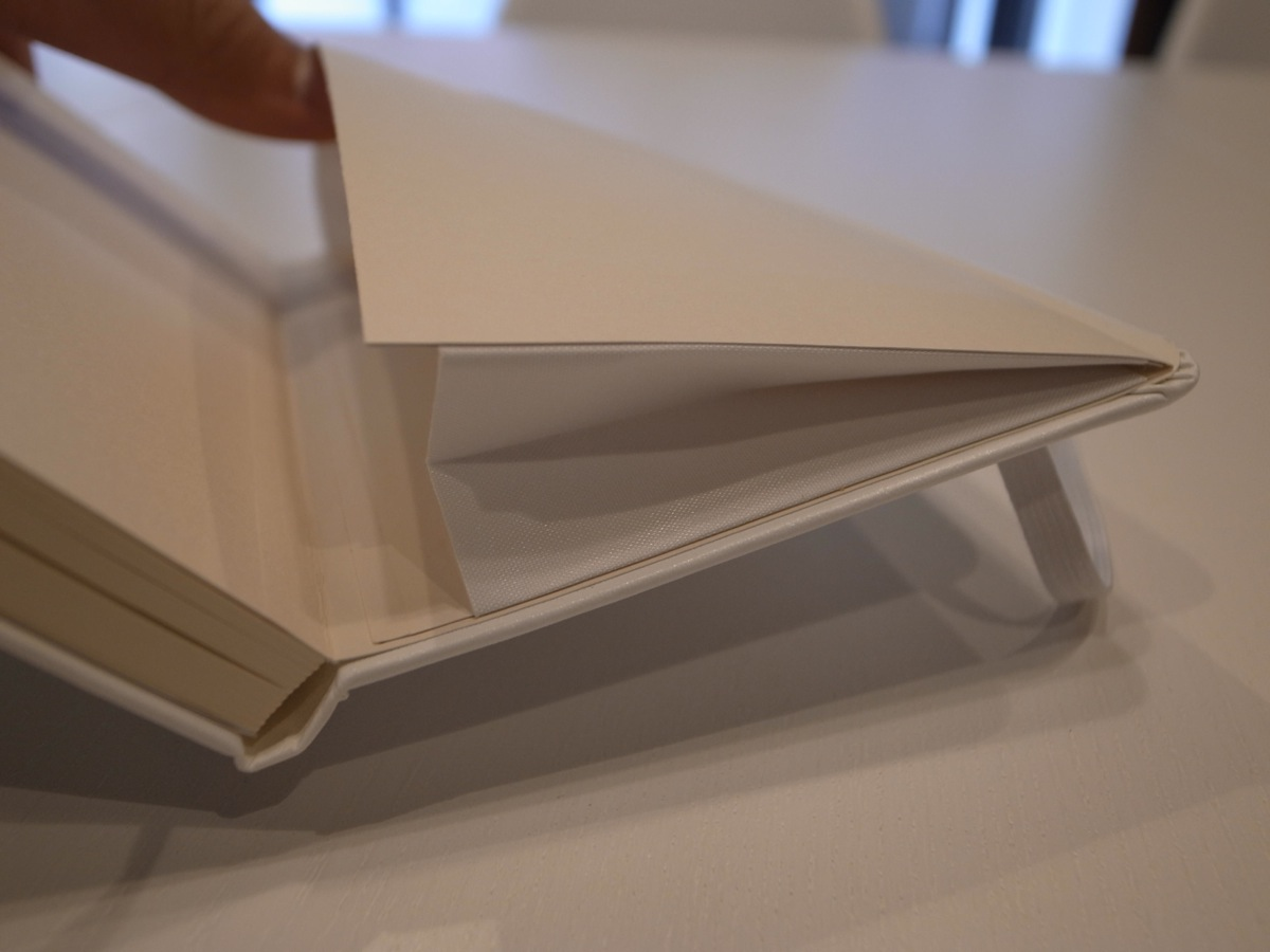 Moleskine white pocket plain notebook 5