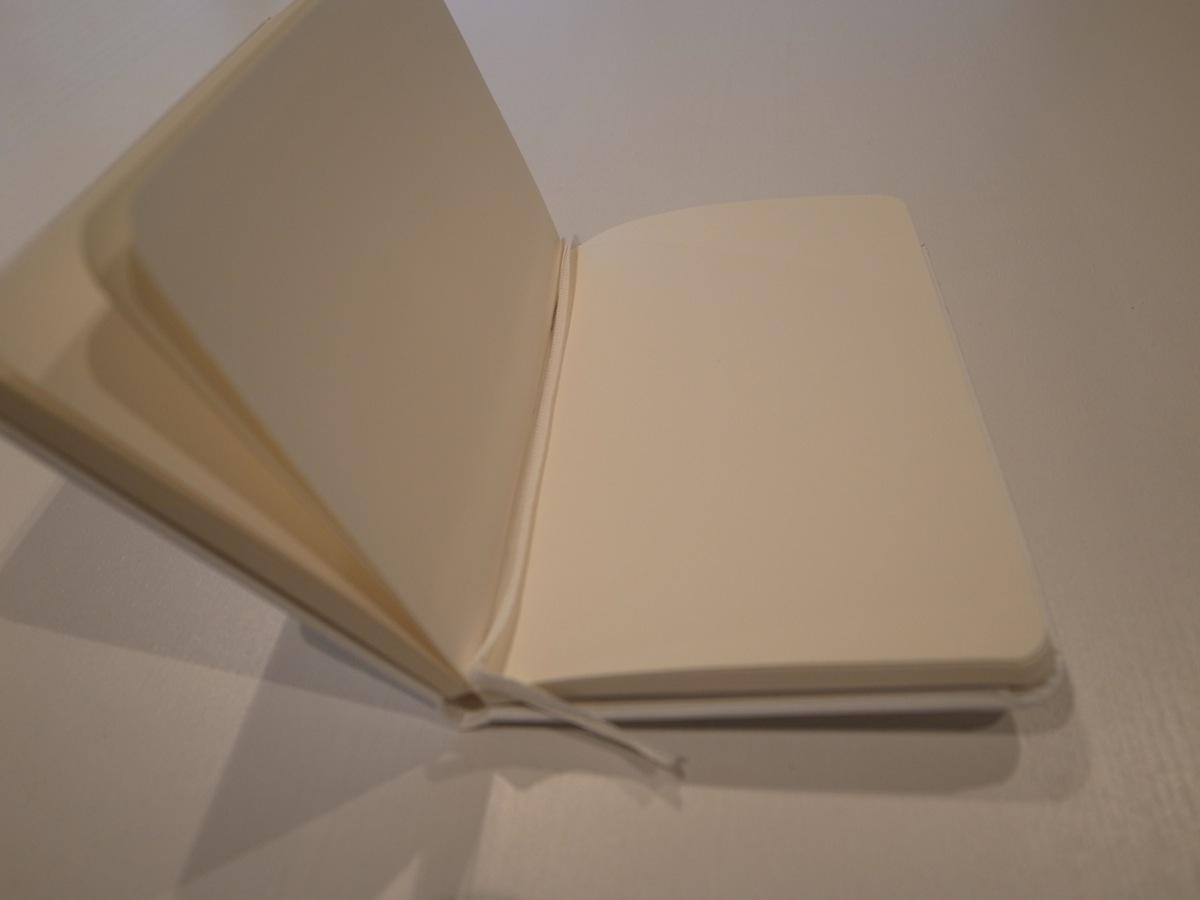 Moleskine white pocket plain notebook 6