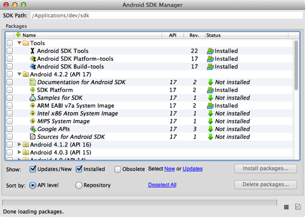 Macbook air android sdk install 5