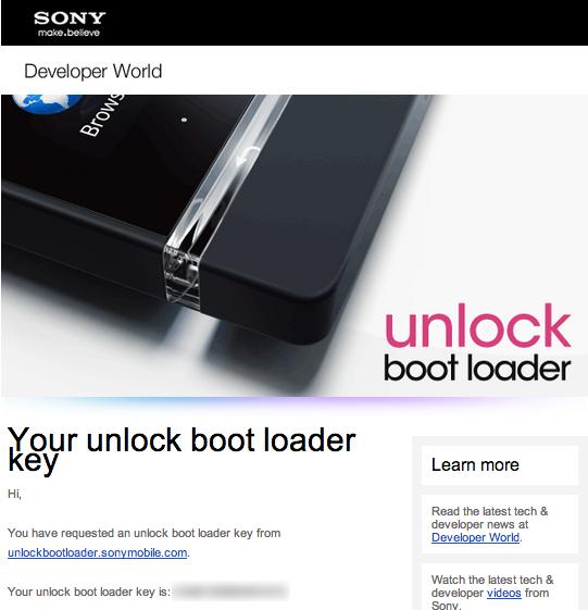 Xperia z ultra bootloader unlock 11