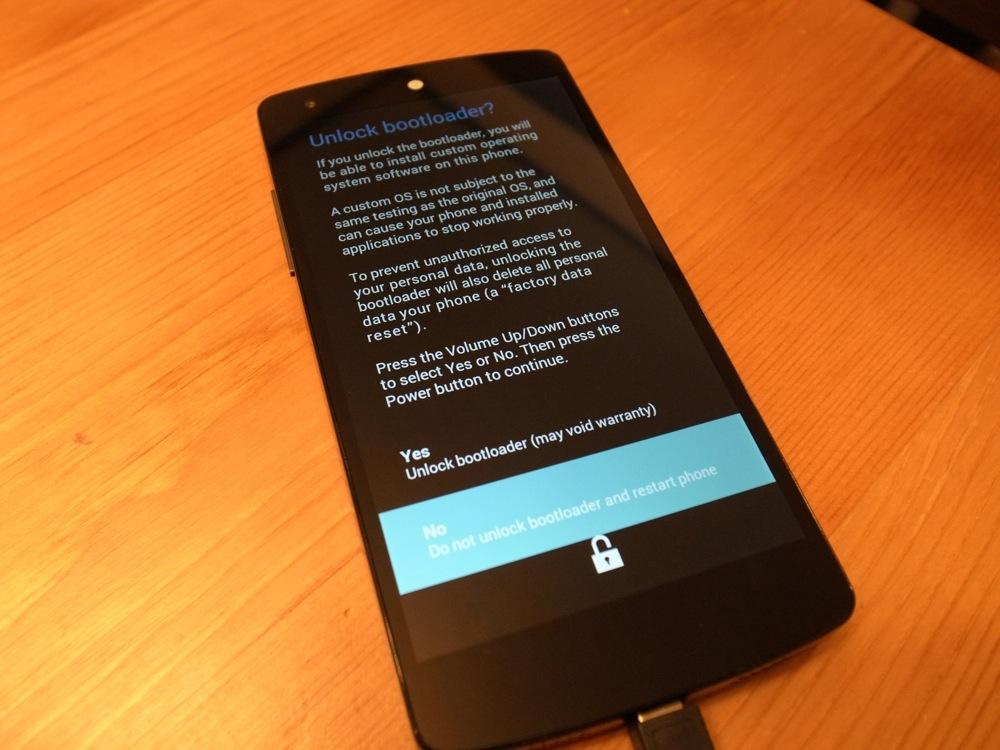 Nexus 5 Bootloader unlock root 3