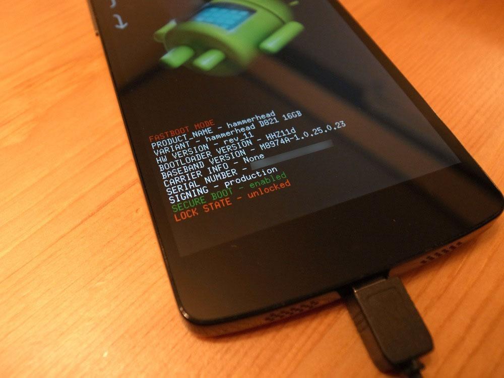 Nexus 5 Bootloader unlock root 4