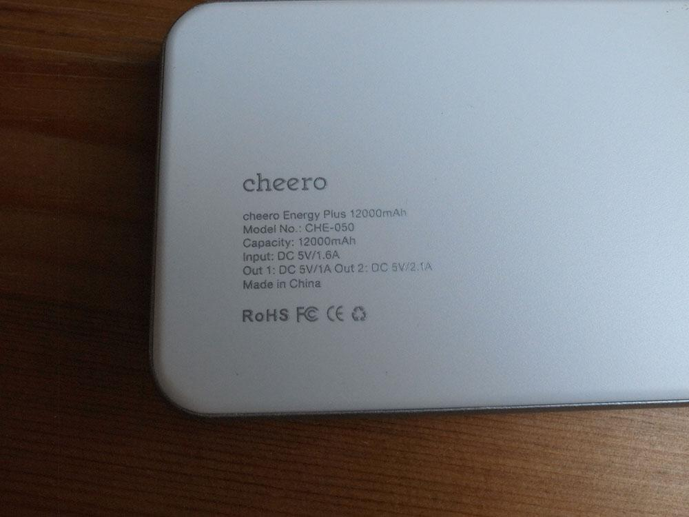 Cheero energy plus 1200mah 15