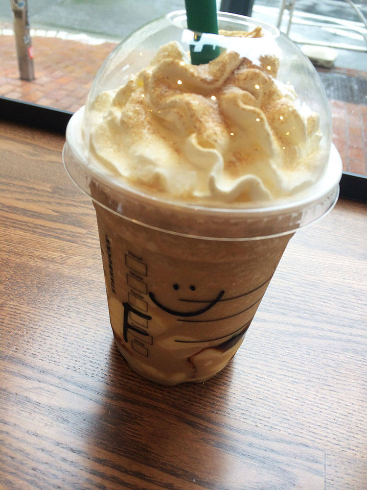 Starbucks coffee caramerl and pudding frappuccino 1