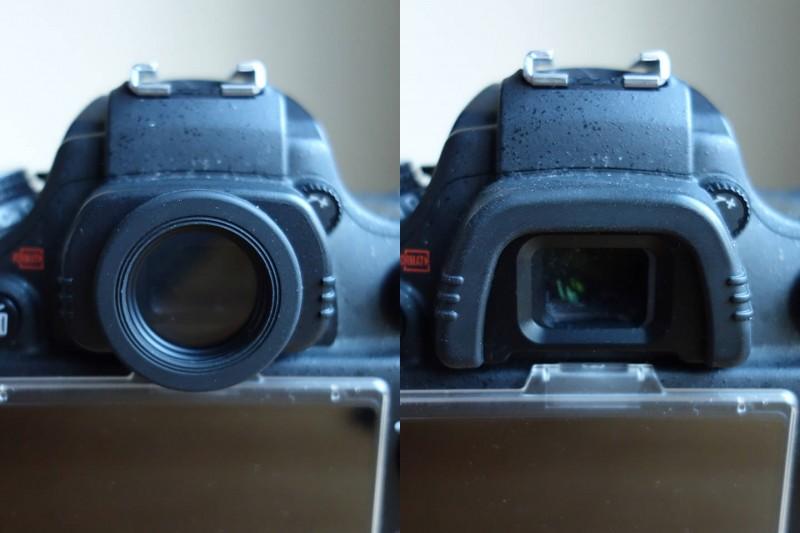 Nikon D600 ファインダー 丸窓 角窓 比較