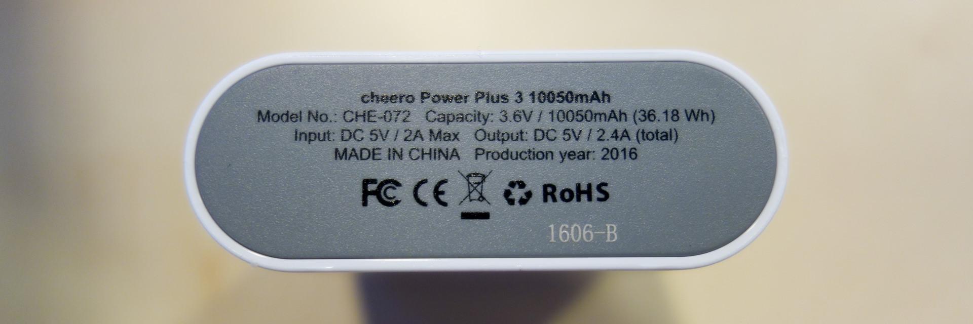cheero Power Plus 3 10050mAh_5