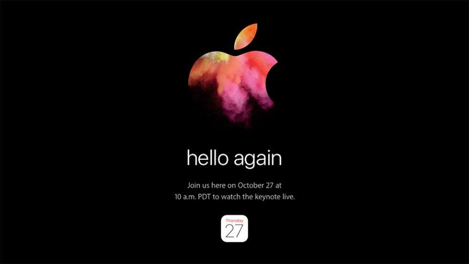 新型MacBook Pro / Airくるか!Apple、日本時間10月28日にスペシャルイベントを開催