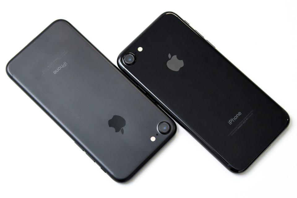 iPhone 7 ブラック ジェットブラック 比較 写真_6