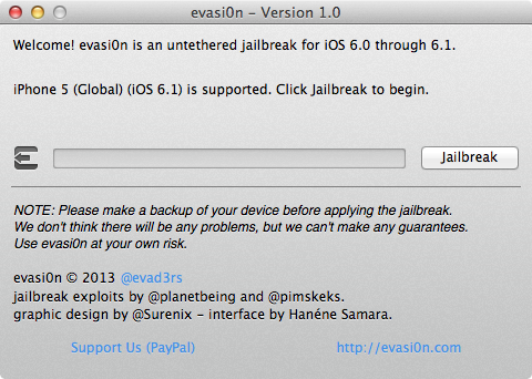 Iphone jailbreak with evasi0n 2