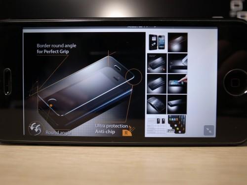 SPIGEN SGPで新品になったiPhoneにGLAS.tRを貼ってもらった