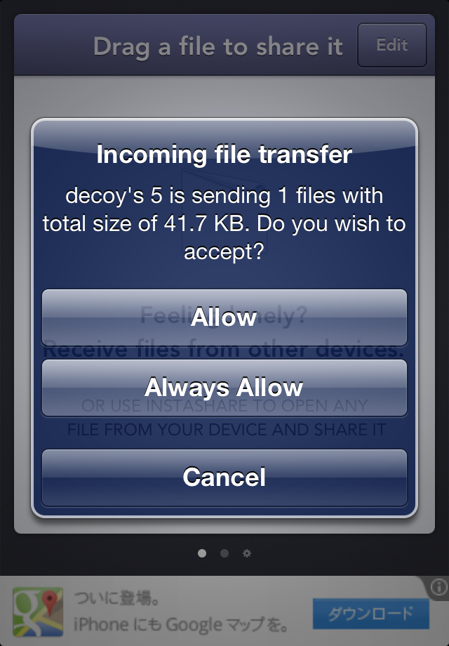 Instashare mac ios wireless file transport 4