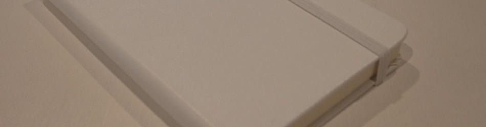 透き通るほど白い!モレスキン ホワイトノートブック