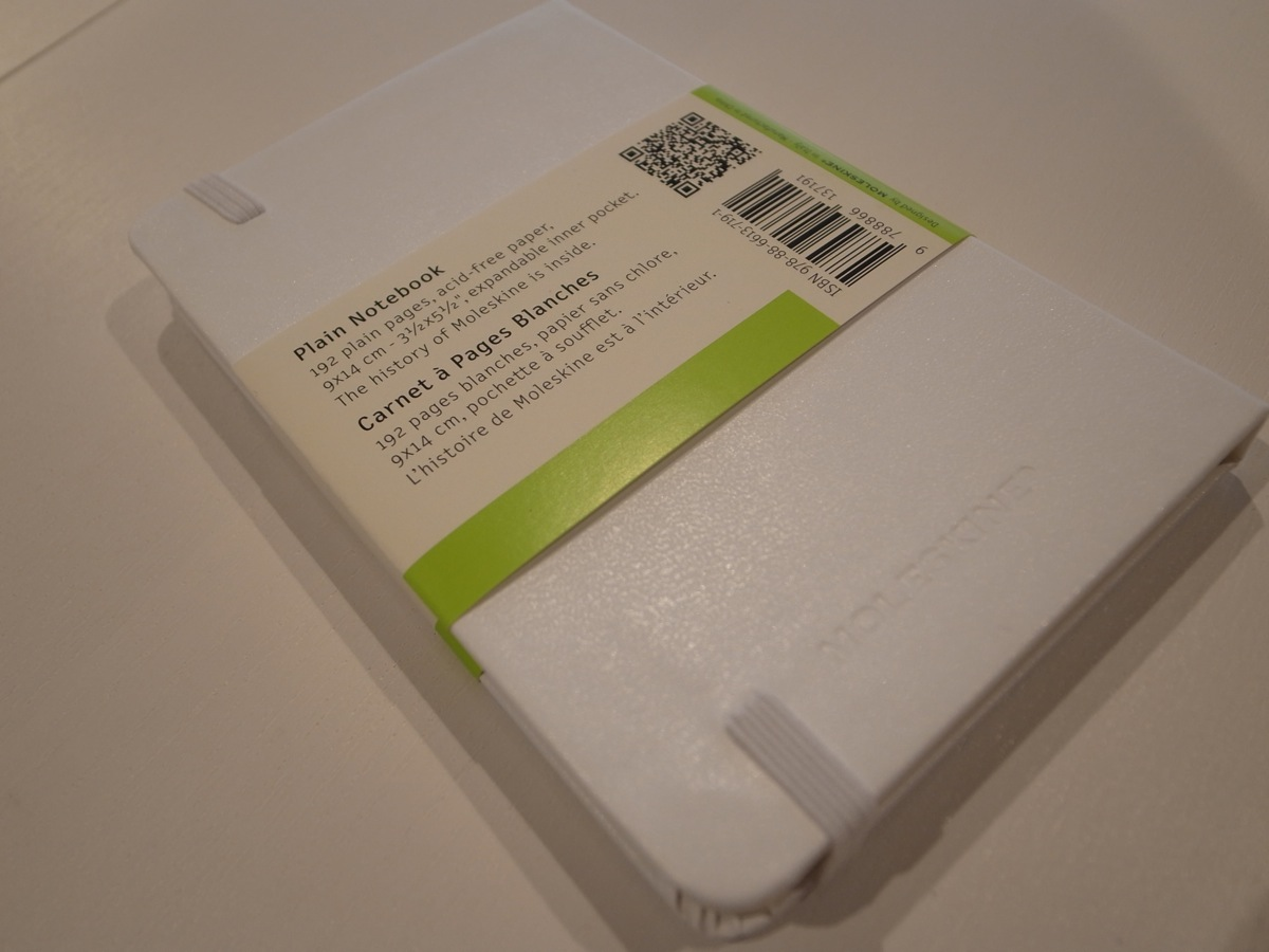 Moleskine white pocket plain notebook 3