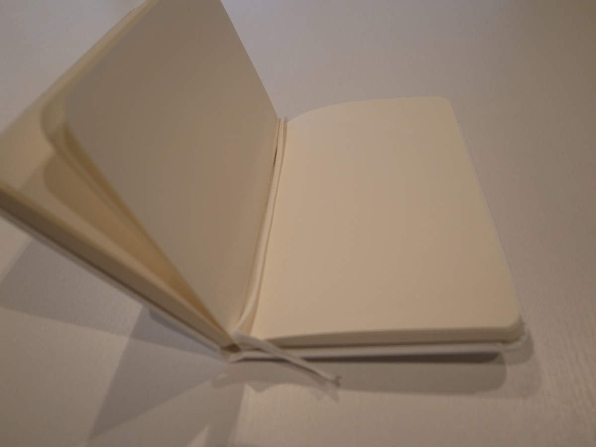 Moleskine white pocket plain notebook 6