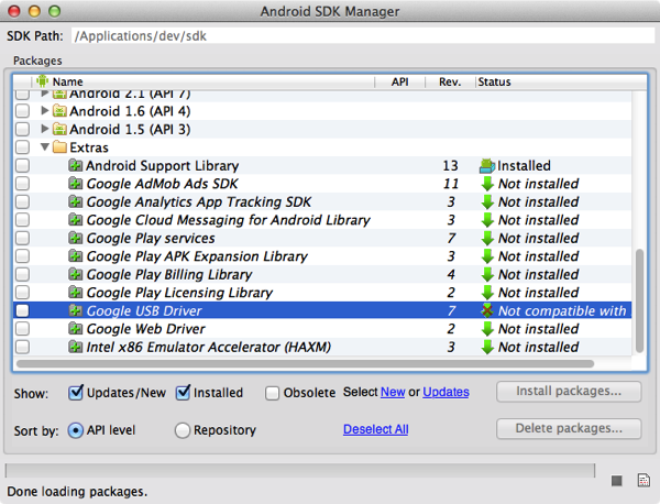Macbook air android sdk install 6