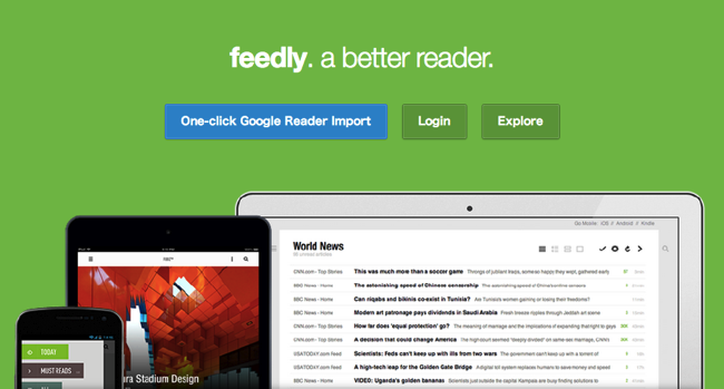 To google reader from feedly 1