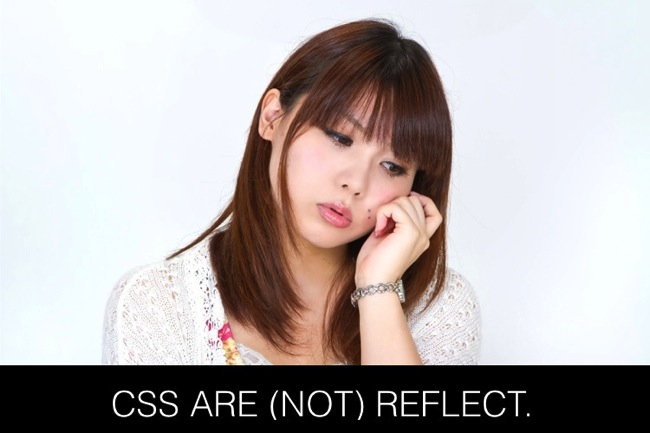 Cause css change not reflect