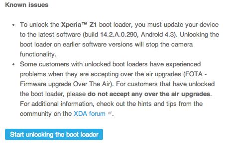 Xperia z ultra bootloader unlock 05