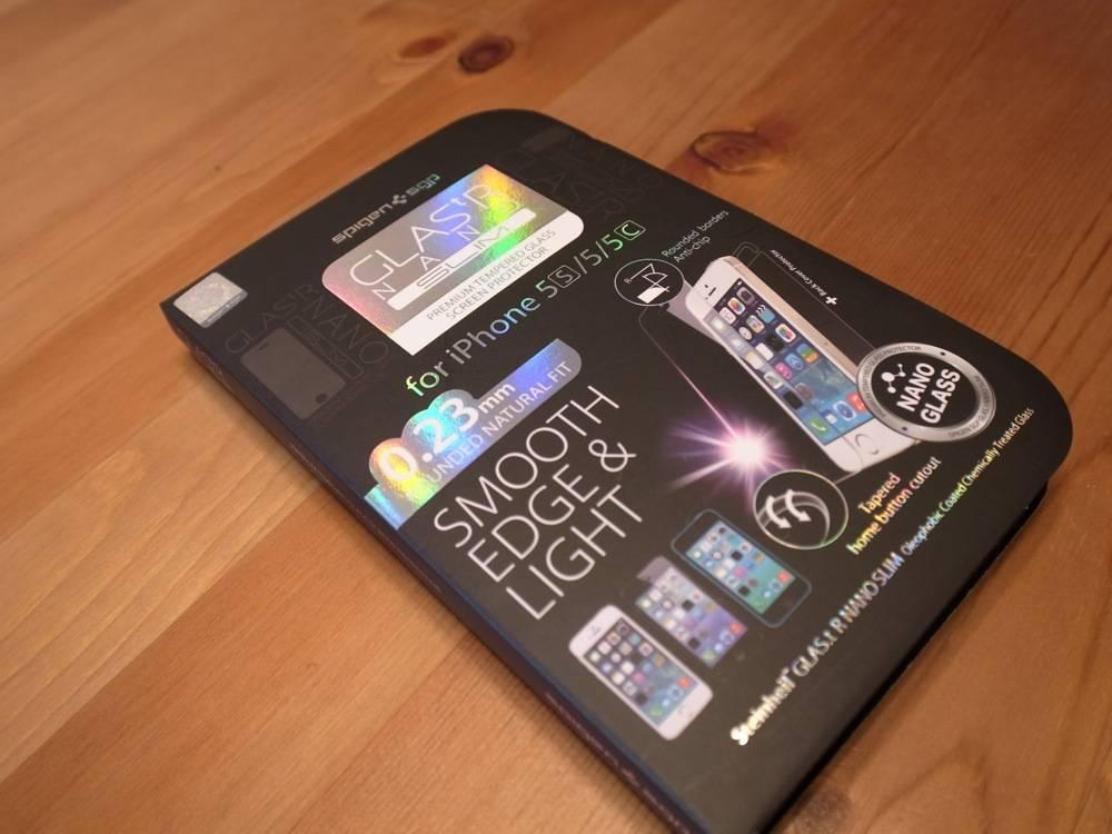 薄さ0.23mmで着けてる感じがしない!iPhone 5s用画面保護ガラスSPIGEN GLAS.tR nano SLIM