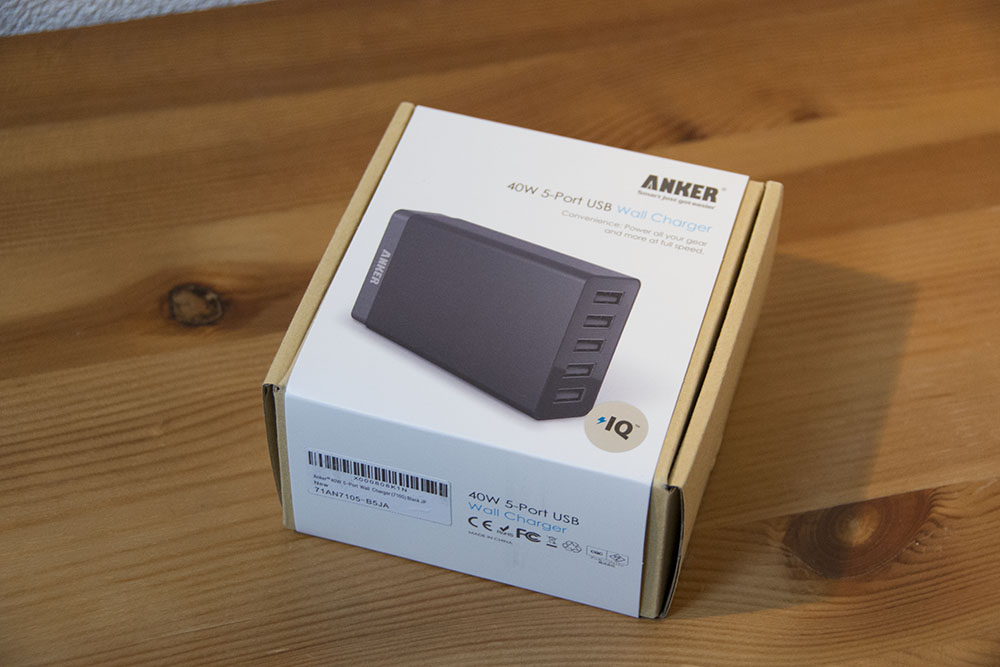 Anker 40w 5port usb charger 01