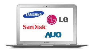MacBook AirのSSDと液晶の製造メーカーを調べる方法