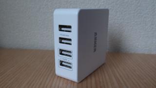 コンセント直挿しのAnker 36W 4ポート USB急速充電器が旅行とかに便利そう