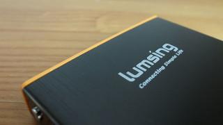 デザインがなかなかにカッコいい「Lumsing 6000mAh モバイルバッテリー」