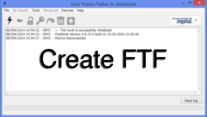 XperiFirmとFlashtoolを使ってftfを作成する方法