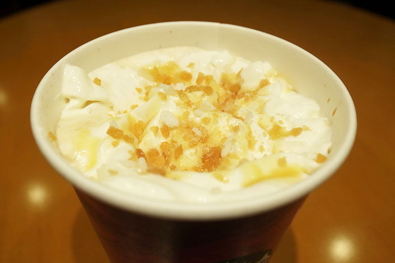 snow maple toffee latte