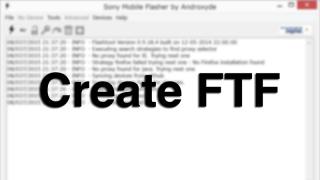 FlashtoolだけでFTFを作成する方法【Xperia】