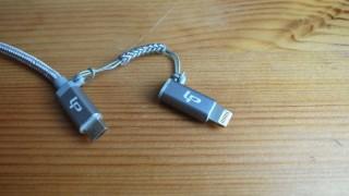 強化ナイロンでねじれや折れに強いLPの「2in1 USBケーブル」レビュー