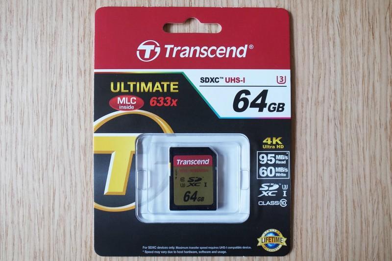 transcend-sdxc-uhs-i-u3 package