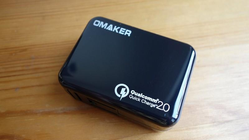 Quick Charge 2.0対応のOmakerのUSB充電器、ホントに速いか試してみた