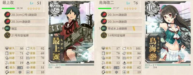 艦これ 秋イベ 2015 E-1 乙 攻略 装備 3