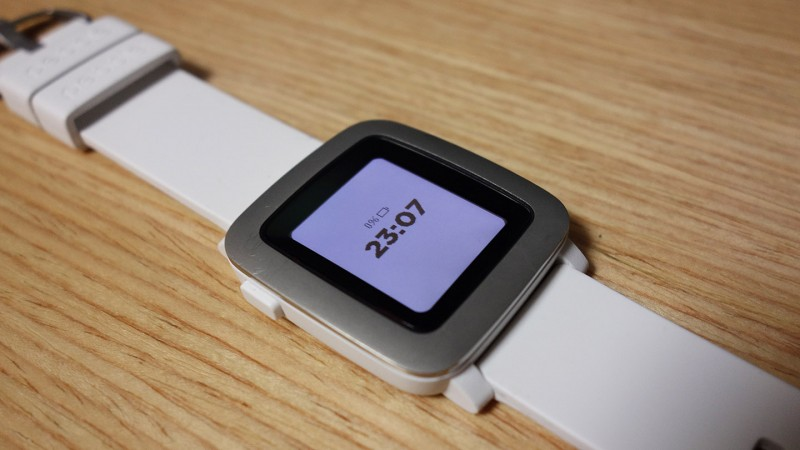 Pebble Time battery 0