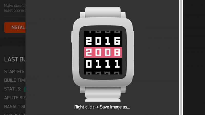 Pebble Timeのスクリーンショットを撮る方法(要PC)