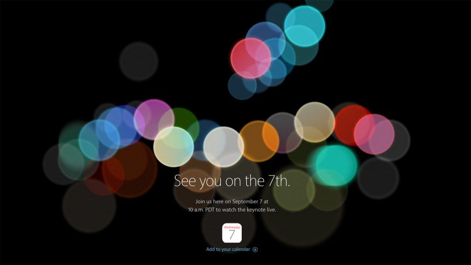 Apple Event 2016 September