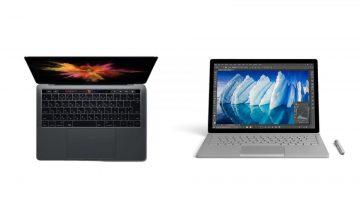 新型MacBookと新型Surface Bookのスペックを比較!