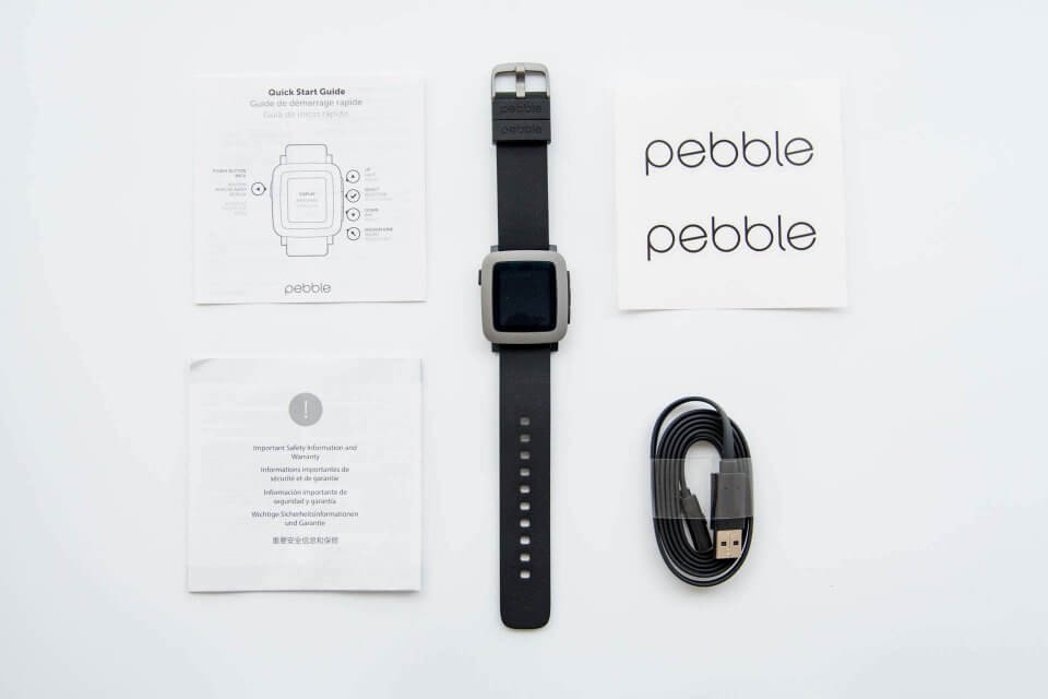 Pebble Time 同梱品