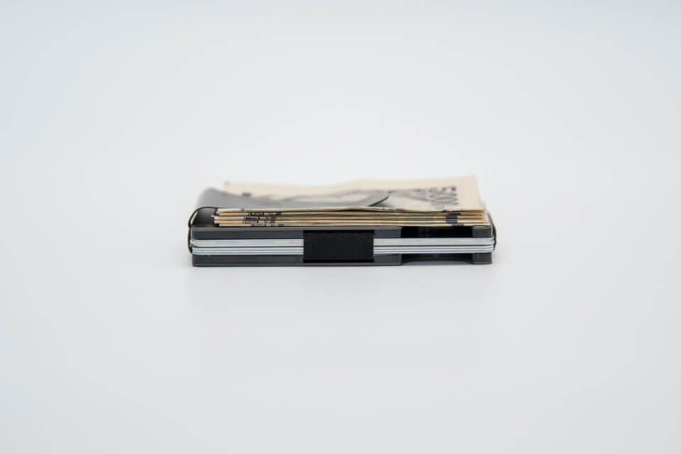 the RIDGE (ザ リッジ) カードと札を収納した状態