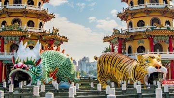 【台湾・高雄旅】高雄屈指のパワースポット蓮池潭の『龍虎塔』に行ってきた