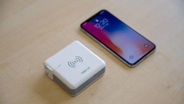 コンセント直挿しでワイヤレス充電もできるモバイルバッテリーがよさげ