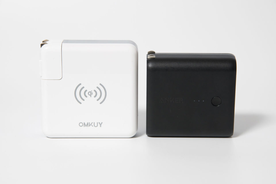 モバイルバッテリー qi ワイヤレス充電器とAnker PowerCore Fusionを比較