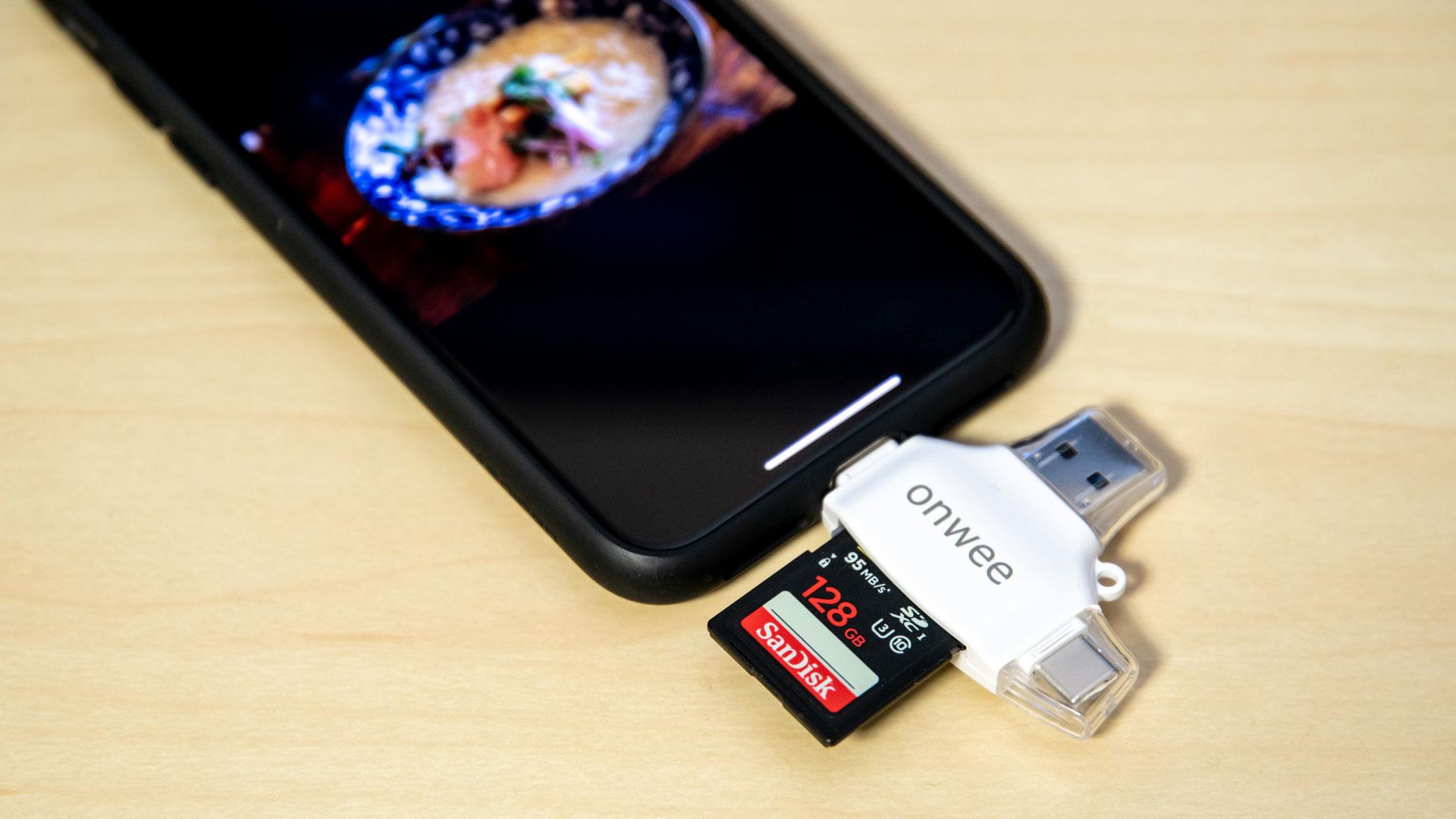 iPhone、Android、MacBook、PCに直挿しできる安価なSDカードリーダーを購入