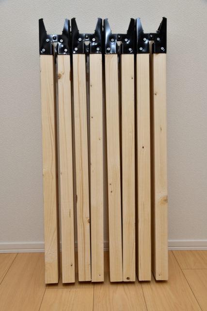ソーホースブラケットと2×4材で脚が完成